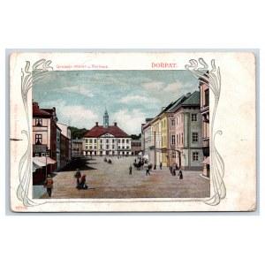 Postcard Estonia Dorpat (Tartu) Big Market