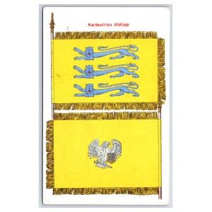 Postcard Estonia Defence league Defence league banner
