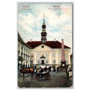 Postcard Estonia Narva Narva town hall