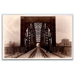 Postcard Estonia Narva Railway bridge