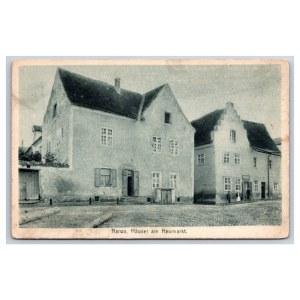 Postcard Estonia Narva New market houses