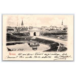 Postcard Estonia Pärnu Tallinn's Gate