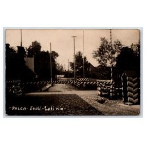 Postcard Estonia Valga Estonian-Latvian border