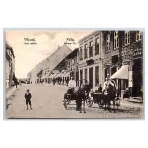 Postcard Estonia Viljandi Lossi street