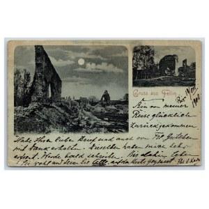Postcard Estonia Viljandi Castle ruins