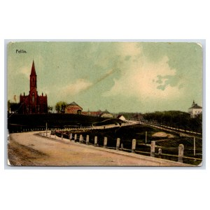 Postcard Estonia Viljandi Paulus church