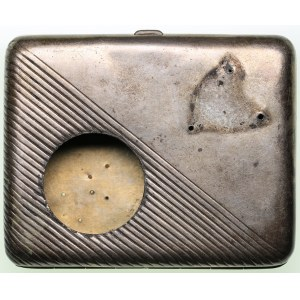 Russia silver cigarette case 84 mark