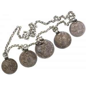 Russian jewelry made from coins