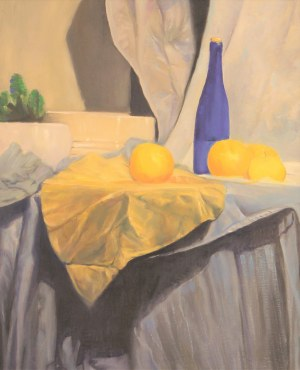 Kazimierz Krasowski (ur.1962), Martwa natura z niebieską butelką