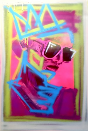 Sławomir DANIELSKI, Pink 1, z cyklu Sztuka Rozrywkowa, 2021 r.