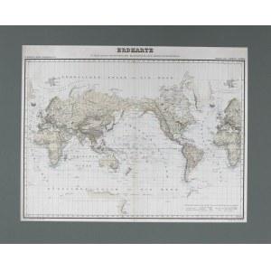 Mapa ERDKARTE,1858