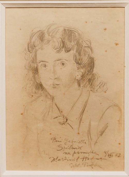Wlastimil Hofman(1881-1970),Portret Gabrielli Spólnik,1957