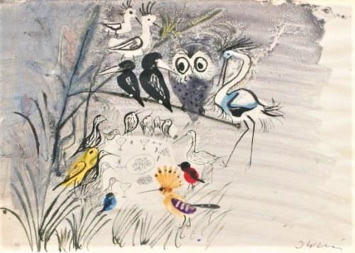 Józef Wilkoń,Ptaki na gałęzi