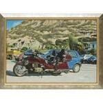 Andrzej Adam Sadowski, Kreta - Matala - parking - czerwona Honda Gold Wing, 1997/1998