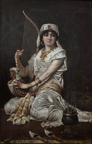 Adolf Herman Duszek, Grająca na harfie