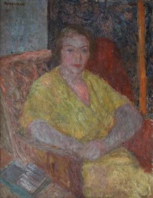 Czesław Rzepiński, Portret kobiety w fotelu
