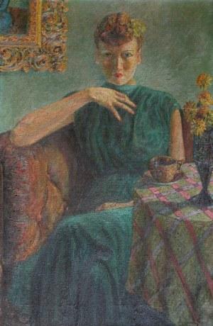 A.N.(XX w.), Portret kobiety z filiżanką