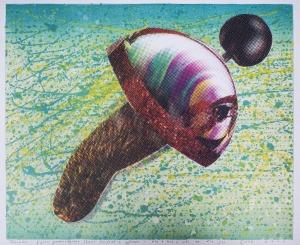Zbigniew Gorlak, Rhombus - figura pneumatyczna łącząca farfocel z syfonem, 2000