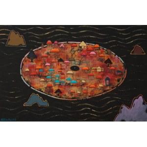 Kilanowicz- Barecka Grażyna, Kompozycja z cyklu Wyspy