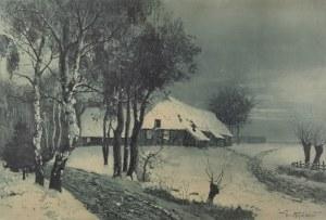 Herman THIELE (1867-?), Nokturn zimowy,  ok. 1910