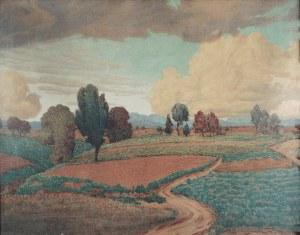 Josef Johann BEYER (1861-1933), Pejzaż z burzowymi chmurami, 1914