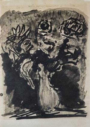 Eugeniusz EIBISCH (1895-1987), Wazon z kwiatami, lata koniec 60. - pocz. 70. XX w.