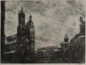 Wojciech WEISS (1875-1950), Rynek w Krakowie, 1942