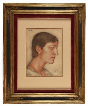 Eugeniusz ZAK (1884 Mogilno -1926 Paryż), Portret mężczyzny z profilu, ok. 1920