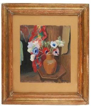 Abraham WEINBAUM (1890-1943), Bukiet anemonów na stoliku