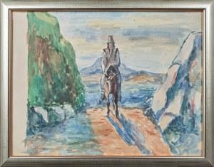 Leonard PĘKALSKI (1896-1944), Hucuł na koniu - Jeździec na koniu, ok. 1935