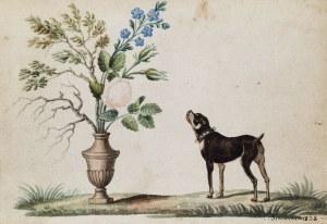 Jan SIKORSKI (1804-1887), Kwiaty i pies - Pies i kwiaty, 1828