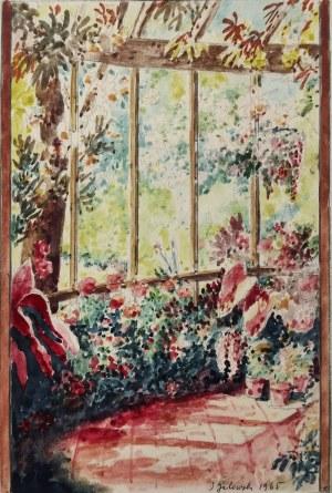 Józef GALEWSKI (1882-1966), Weranda w wiosennym słońcu, 1965