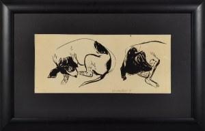 Jan SZANCENBACH (1928-1998), Studia śpiącego psa, 1951