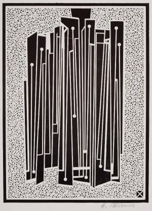 Henryk PŁÓCIENNIK (1933-2020), Kompozycja abstrakcyjna