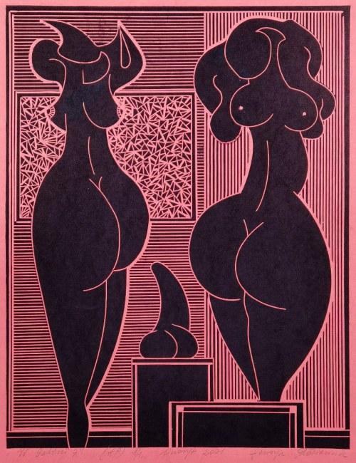 Henryk PŁÓCIENNIK (1933-2020), W Galerii 7, 2001