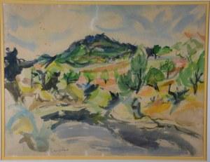 """Jan Wacław Zawadowski (1891-1982), """"Pejzaż z południa Francji"""", 1930 r."""