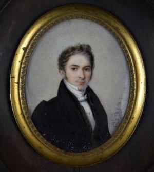 """Charles Blondel (XIX w.), Miniatura """"Portret młodego mężczyzny"""", 1828 r."""