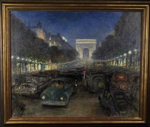 "Fred Money (1882-1956), ""Paryż nocą"", lata 40/50-te."