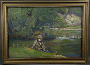 "Franciszek Rembertowski (XIX/XX w.), ""Nad potokiem"", lata 20-te."