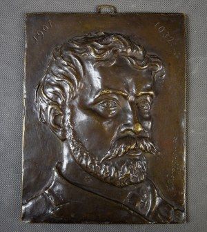"""Edmund Feliks Korosadowicz (1872-1964), """"Stanisław Wyspiański"""", brąz, 1932 r."""