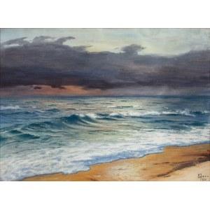 Soter JAXA MAŁACHOWSKI (1867-1952), Burza nad Bałtykiem, 1926