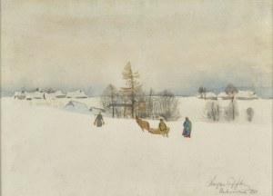 Marian PUFFKE (1888-1925), Pejzaż zimowy, 1919?