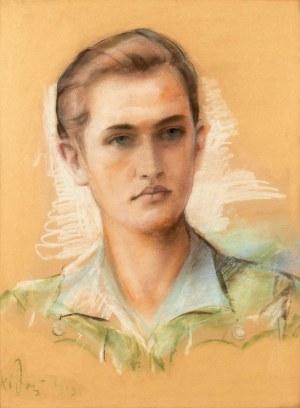 Józef KIDOŃ (1890 - 1968), Portret młodzieńca, 1943