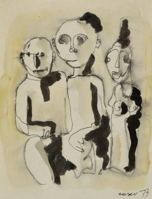 Otto AXER (1906-1983), Trzy postacie, 1973
