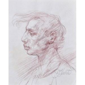 Dariusz KALETA Dariuss (ur. 1960), Szkic popiersia mężczyzny z lewego profilu