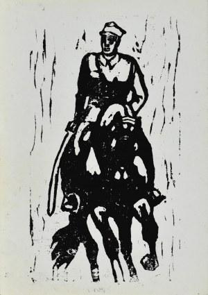 Ludwik MACIĄG (1920-2007), Ułan na koniu z szablą u boku