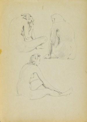 Ludwik MACIĄG (1920-2007), Studia aktu kobiety siedzącej w trzech pozach