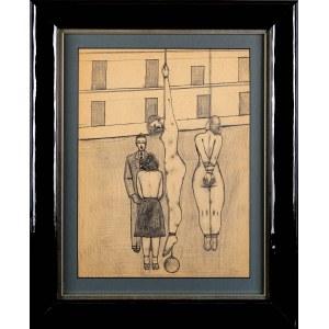 Jerzy Nowosielski (1923-2011), Egzekucja - kompozycja figuralna - praca dwustronna