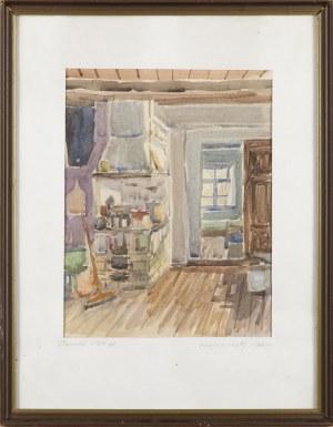 Donald SOLO (1919-2010), Wnętrze chaty