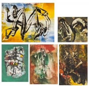 Jan Aleksander SOĆKO [Jan WAGNER] (1937-1988), Zestaw 5 prac